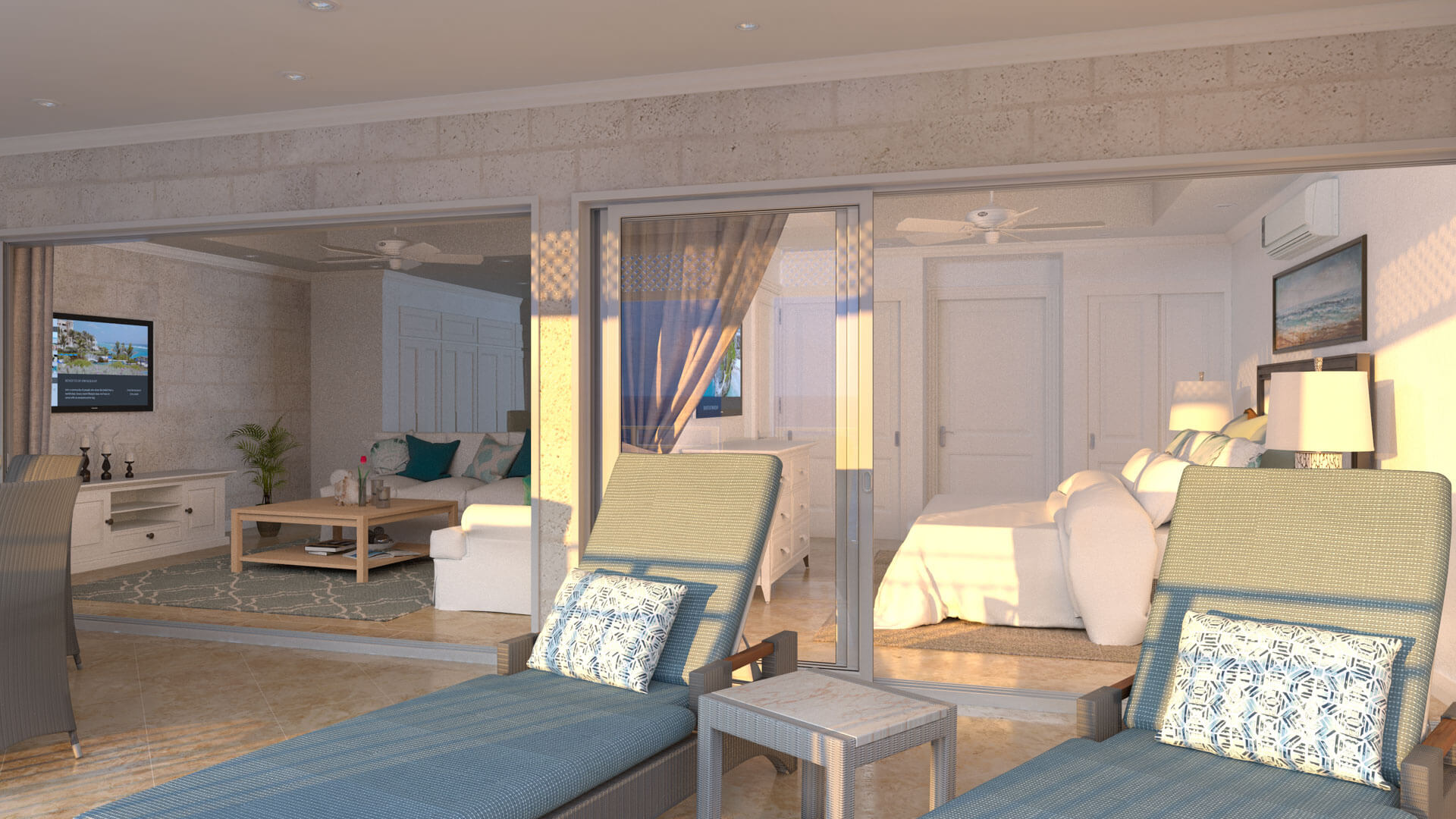 Typical Partial View Suite - Living Area