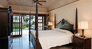 Typical Ocean View Suite with 28 ft. Pool - Master Bedroom